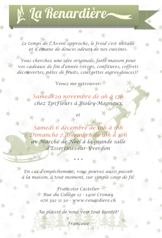 Flyer Marchés de Noël 2014